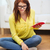 学生 · メモを取る · 研究 · ルーム · 笑みを浮かべて · 教育 - ストックフォト © dolgachov