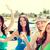 ninas · champán · gafas · barco · verano · vacaciones - foto stock © dolgachov