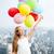 mutlu · aile · renkli · balonlar · açık · havada · yaz · tatil - stok fotoğraf © dolgachov