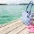 praia · toalha · sol · loção - foto stock © dolgachov