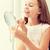 lip · gloss · specchio · adolescenza · bellezza · trucco - foto d'archivio © dolgachov