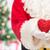 papá · noel · forma · de · corazón · Navidad · vacaciones · amor - foto stock © dolgachov