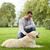 mutlu · adam · Labrador · köpek · yürüyüş · şehir - stok fotoğraf © dolgachov