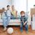 счастливая · семья · движущихся · новый · дом · играет · мяча · ипотечный - Сток-фото © dolgachov