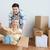 boldog · pár · szórakozás · dobozok · új · otthon · otthon - stock fotó © dolgachov