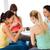 gelukkig · zwangere · vrouwen · gadgets · gymnasium · zwangerschap - stockfoto © dolgachov