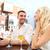 boldog · pár · pénztárca · fizet · számla · étterem - stock fotó © dolgachov