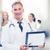 gülen · erkek · doktor · stetoskop · tıp · meslek - stok fotoğraf © dolgachov