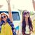 felice · giovani · hippie · amici · dancing · esterna - foto d'archivio © dolgachov