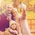 gelukkig · gezin · camera · najaar · park · familie · jeugd - stockfoto © dolgachov