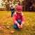 twee · kinderen · verzamelen · bladeren · boom - stockfoto © dolgachov