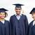 feliz · estudantes · solteiros · educação · graduação · pessoas - foto stock © dolgachov