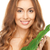 vrouw · groen · blad · foto · witte · gelukkig · gezondheid - stockfoto © dolgachov