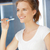 улыбаясь · зубная · щетка · фотография · женщину · счастливым - Сток-фото © dolgachov