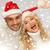 sonriendo · Pareja · ayudante · invierno - foto stock © dolgachov