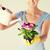 jardinagem · mulher · água · planta · regador - foto stock © dolgachov