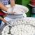 közelkép · szakács · hús · utca · piac · főzés - stock fotó © dolgachov