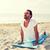 bell'uomo · stuoia · di · yoga · studio · uomo · sport · corpo - foto d'archivio © dolgachov
