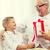 abuelo · nieto · junto · casa · sesión · sillón - foto stock © dolgachov