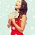 femme · robe · rouge · dollar · argent · vacances · bancaires - photo stock © dolgachov