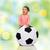 uśmiechnięty · piłka · ręce · mum - zdjęcia stock © dolgachov
