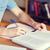 piśmie · notebooka · strony · teen · nastolatków - zdjęcia stock © dolgachov