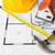 close up of house blueprint with building tools stock photo © dolgachov
