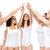 группа · счастливым · различный · женщины · high · five - Сток-фото © dolgachov