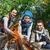 famille · heureuse · guimauve · feu · de · camp · camping · Voyage · tourisme - photo stock © dolgachov