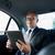 senior · zakenman · rijden · auto · vervoer - stockfoto © dolgachov