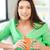 kadın · kupa · parlak · resim · mutlu · güzellik - stok fotoğraf © dolgachov