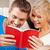 glücklich · Paar · home · hellen · Bild · Buch - stock foto © dolgachov