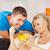 glücklich · Paar · home · hellen · Bild · Müsli - stock foto © dolgachov