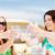 brindis · playa · dos · mejores · amigos · sesión - foto stock © dolgachov