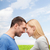 smiling couple looking at each other stock photo © dolgachov
