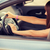 zangado · feminino · motorista · retrato - foto stock © dolgachov