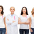 uśmiechnięty · kobiet · różowy · raka · świadomość - zdjęcia stock © dolgachov