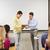 grupy · uśmiechnięty · studentów · nauczyciel · klasie · edukacji - zdjęcia stock © dolgachov