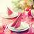 Рождества · пластин · вечеринка · зеленый · красный - Сток-фото © dolgachov