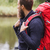 вид · сбоку · человека · рюкзак · лес · улыбаясь · рубашку - Сток-фото © dolgachov