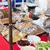ruw · noten · specerijen · keukentafel · amandelen · keramische - stockfoto © dolgachov