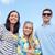 grupo · feliz · amigos · playa · verano · vacaciones - foto stock © dolgachov