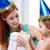 feliz · mãe · bebê · aniversário · sorrir - foto stock © dolgachov