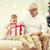 sonriendo · abuelo · nieto · casa · familia · vacaciones - foto stock © dolgachov