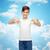 tizenéves · fiú · üres · felhő · fiatal · pózol · stúdió - stock fotó © dolgachov