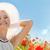 alan · gelincikler · güneş · mavi · gökyüzü · çiçek · gün · batımı - stok fotoğraf © dolgachov