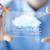 cep · telefonu · bulutlu · hava · durumu · tahmin · bulutlar - stok fotoğraf © dolgachov