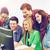 studenten · naar · school · onderwijs · internet - stockfoto © dolgachov