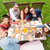 üst · görmek · grup · insanlar · oturma · tablo · gıda - stok fotoğraf © dolgachov
