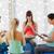 gelukkig · zwangere · vrouwen · vergadering · gymnasium - stockfoto © dolgachov